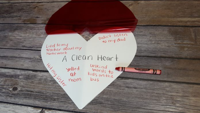 The Joy Of A Clean Heart A Craft About Penance And Reconciliation